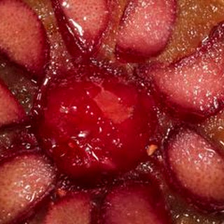 Raspberry-Rhubarb Upside-Down Cake