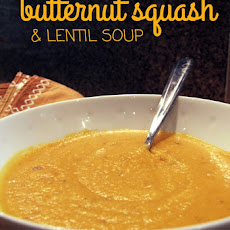 Roasted Butternut Squash And Red Lentil Soup