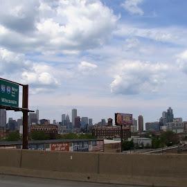 Chicago Skyline 7 by Yvonne Collins - City,  Street & Park  Street Scenes