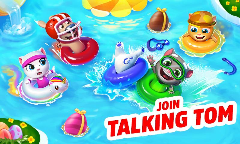 Talking Tom Pool Android App Screenshot