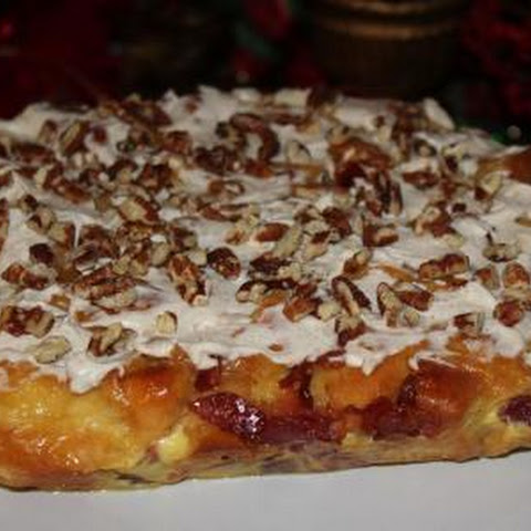 Doughnut and Bacon Eggnog Bread Pudding