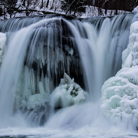 freeze frame  by Angela Taylor - Landscapes Waterscapes ( indiana, winter, catatact falls, frozen, frozen watefalls,  )