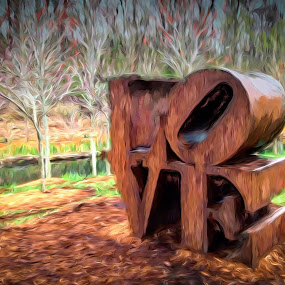 Love by Allen Crenshaw - Digital Art Abstract ( art museum, expressionism, digital art, crystal bridges, photography, arkansas )
