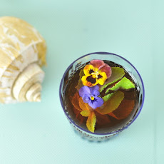 Iced Tea with Mint and Pansies