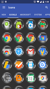 Glass 3D Icon Pack- screenshot thumbnail