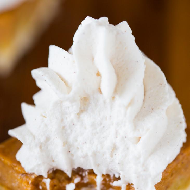Pumpkin Pie Shortbread Bars with Maple Cinnamon Whipped Cream Recipe ...