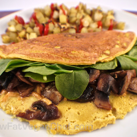 Low Fat Vegan Silken Tofu Omelet