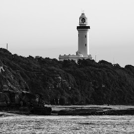 Norah Head Lighthouse by Mel Stratton - Buildings & Architecture Statues & Monuments ( water, cliffs, lighthouse, monument, beach, seascape, landscape,  )