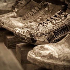 Shoes by Andrej Tarfila - Artistic Objects Clothing & Accessories ( shoes, sephia, tarfila, street, andrej,  )