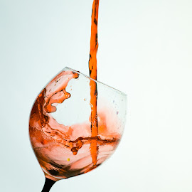 Red wine by Oana Stefana - Food & Drink Alcohol & Drinks ( wine, splash, still life, fill, still, drinks, red, liquid, splashing, alcohol, wine glass, drink, pouring, glass, pour, closeup )