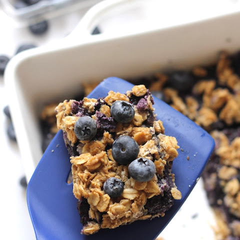 Blueberry Oatmeal Snack Bars