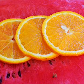 orange with waterlemon by LADOCKi Elvira - Food & Drink Fruits & Vegetables