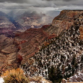 Storm in the Canyon by Clyde Smith - Landscapes Travel