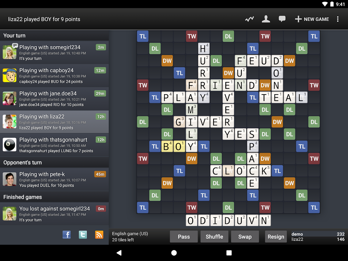 Wordfeud Screenshot 8