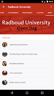 Radboud Universiteit Open Dag - screenshot