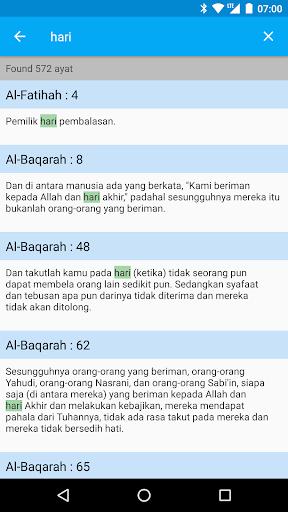 Quranku - Al Quran Indonesia and English screenshot 3