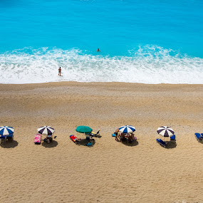 Egremni beach by Felea Adina - Landscapes Beaches ( the best, grecee, lefkada, ionian, sea, beach, top )
