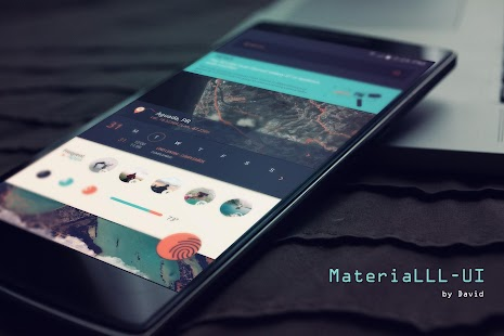 MateriaLLL UI for KLWP- screenshot thumbnail