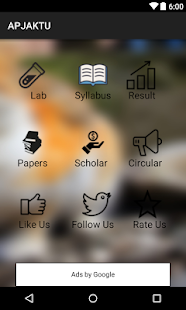 APJAKTU syllabus,results,labs - screenshot