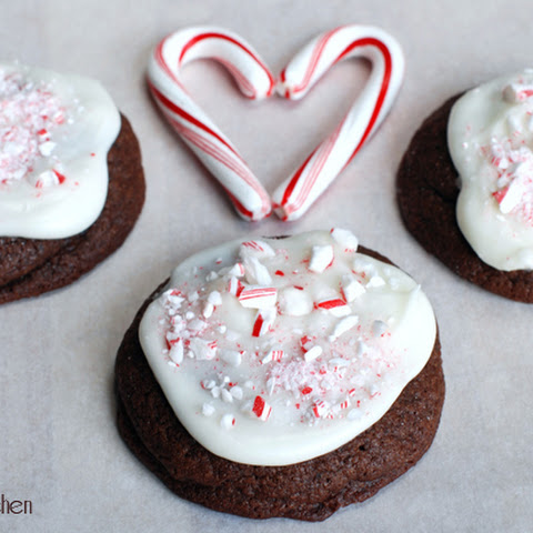 Chocolate Candy Cane Buttons