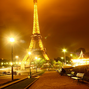 by Samuel Sitompul - Landscapes Travel ( paris night, lights, paris, paris at the night, eiffel, night, eiffel tower at the night, landscape,  )
