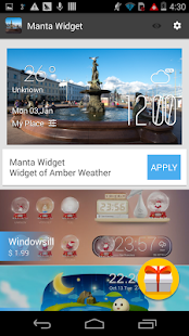 Manta weather widget/clock - screenshot