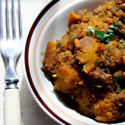Slow cooker Indian-spiced butternut squash