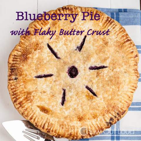 Blueberry Pie with Flaky Butter Crust