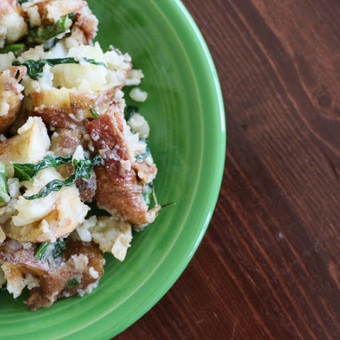 Warm Potato Salad with Bacon, Asparagus and Swiss Chard