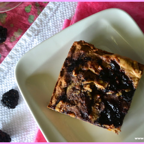 Vegan Peanut Butter and Jelly Blondie Bars