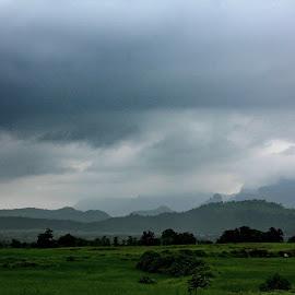 clouds all arround by Shalini Jain - Landscapes Cloud Formations ( clouds, hills, mountain, crop lands, green, landscape )