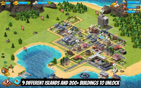 Paradise City Island Sim Town  Build It On The Bay   Android Apps On Google Play