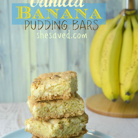 Vanilla Banana Pudding Bars