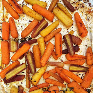 Honey-Roasted Rainbow Carrots