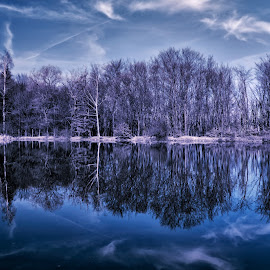 Mirror lake by Ivailo Atanasov - Landscapes Waterscapes ( clouds, mirror, sky, nature, beautiful, reflections, trees, tourism, lake, travel, landscape )