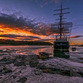 by Bojan Bilas - Landscapes Sunsets & Sunrises ( landcsape, color, sunset, beautiful, suomi, finland, seascape, rauma )