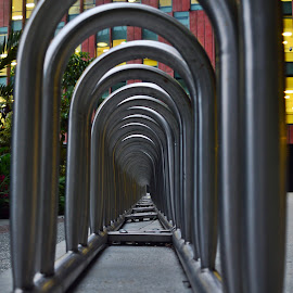 Steel Tunnel by Andrius La Rotta Esquivel - Artistic Objects Other Objects ( modern, symmetry, photography, design, tunnel )