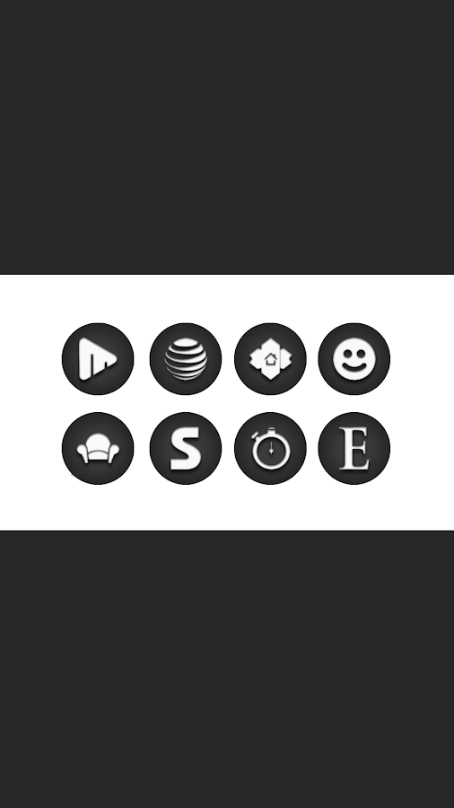 Jogi - Black White Round Icons Screenshot 1