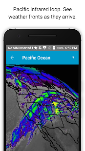 Satellite Weather Radar screenshot for Android