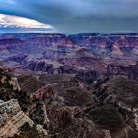 Isn't it Grand?  by Kimberly Sharp - Novices Only Landscapes ( google pixel phone, storm front, novice, cellphone photo, cellphone, landscapes, grand canyon )