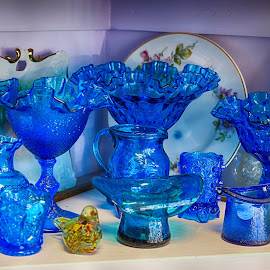 Blue Glass  by Lorraine D.  Heaney - Artistic Objects Glass