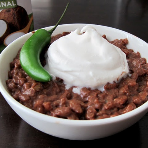 Champorado Infused with Ginger and Thai Chili (Vegan and Gluten-Free Chocolate Risotto)