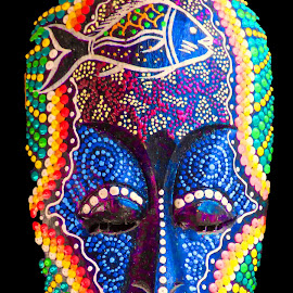 African War Mask 2 by Dave Walters - Artistic Objects Other Objects ( lumix fz70, african, colors, artistic, ask )