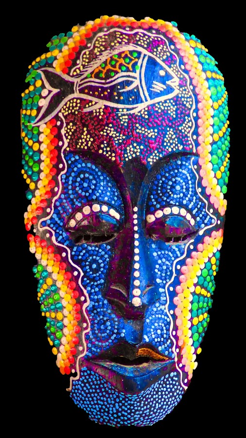 African War Mask 2 by Dave Walters - Artistic Objects Other Objects ( lumix fz70, african, colors, artistic, ask,  )