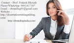 Top Class Thesis Writing Services in Bhopal
