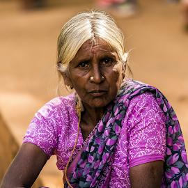 Thinking women by Kusal Gautamadasa - People Portraits of Women ( thinking, women )