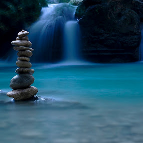 Balance of nature by Eric Daryl Giganto - Landscapes Waterscapes ( water, nature, falls, stones, river )