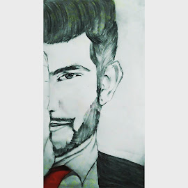 Portrait of Sanam Puri by Paulomi Das - Drawing All Drawing ( love to do this, first attempt, favourite person, pencil sketch, portrait )