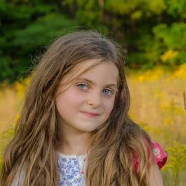 Golden Girl by Chris Cavallo - Babies & Children Child Portraits ( child photography, maine, child portrait, childhood, golden hour, outdoor photography, girl,  )