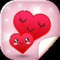 Cute Hearts Live Wallpaper HD APK for Bluestacks